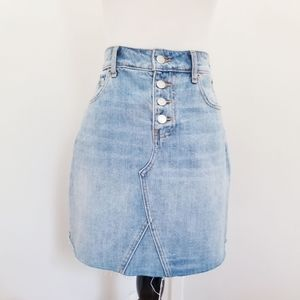 Old Navy High-waisted Light Denim Wash Skirt
